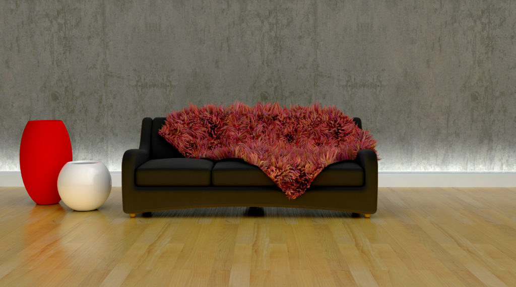 contemporary sofa in moderen setting